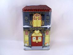 Snack Depot Candy Store Tin Building Vintage