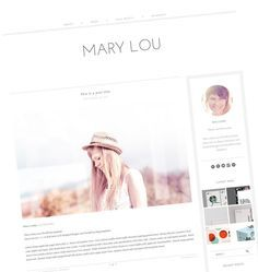Premade WordPress Theme - Responsive Blog Design - Simple Blog Template - Clean, modern - Gray and White - Mary Lou