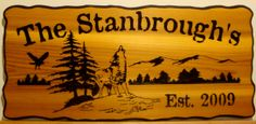 Beaver cut products Custom carved wood signs