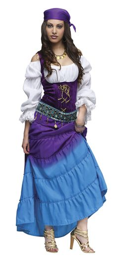 Renaissance gypsy Clothing for Women | Womens Gypsy Moon Adult Costume Gypsy Costumes - Mr. Costumes