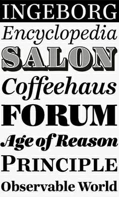 Ingeborg, designed by Michael Hochleitner. Desktop, Letterpress Printing, Editorial Design, Hand Lettering, Fonts, Typography, Creative, Type, Calligraphy