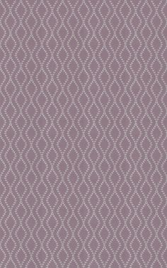 Fern Amethyst (3010/807) - Prestigious Fabrics - A pretty stylised fern leaf design with a vertical undulating embroidered leaf trail. Shown in the Amethyst colourway with silver on amethyst pink lilac. Please request sample for true colour match.