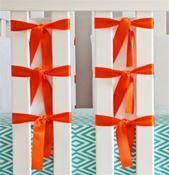 Ventilated Slat Bumpers 20-Pack - Orange Ties Breathable Crib Bumpers #nurserydecor #nurseryideas