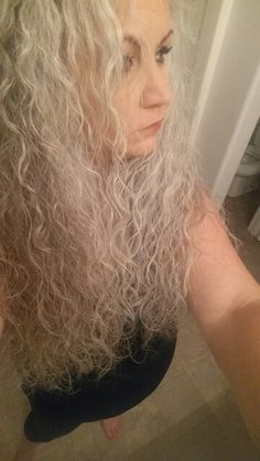 My #grey #hair #curly and all #natural