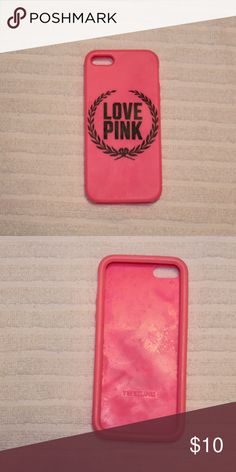 VS Pink iPhone 5/5s case Love pink case, used multiple times. Perfect condition, no rips or cracks in the design. A rubber like material.   💕💕Closet details💕💕 Completely posh compliant closet! 🎀 no trades 🎀 no holds 🎀 offers only through offer button 🎀 very negotiable! I'm more likely to make you a better deal without the bundle feature! So talk to me and let's see what we can do! 🎀 Happy poshing! 🎀💕 PINK Victoria's Secret Accessories Phone Cases
