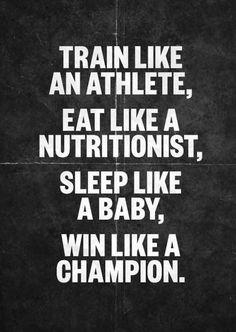 Train. Eat. Sleep. Win. jillconyers.com
