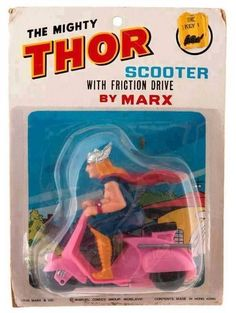 Thor chases down villians on a vespa?