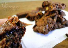 Brisando na Cozinha: Brownie com nozes e caramelo