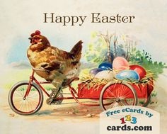 Happy Easter! #happy #celebration #greeting #ecard #card #spring #gifts #care #nostalgic