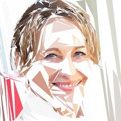 Portrait de Ségolène Royal par Pierre Tomy Le Boucher  http://www.pierretomyleboucher.fr/politique.html