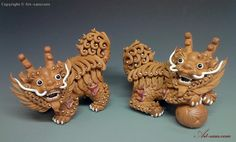 Chinese Feng Shui Qilin Dragon Imperial Creature Ceramic Statue ...