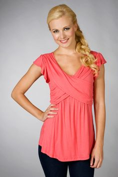 nursing top - very pretty! love the color & design