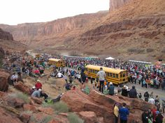 Utah - March:  Runners gather at the starting line of the 2011 Canyonlands Half Marathon near Moab, Utah. (Photo by Karah Levely-Rinaldi/flickr)