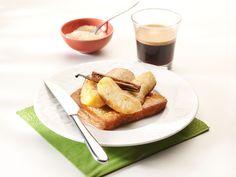 Warme brioche met gebakken appel en peer
