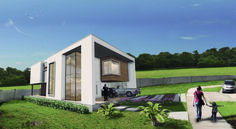 Projeto: Residência Unifamiliar LS; Render: Sketchup + Lumion + Photoshop; Local: Alphaville Campina Grande - PB; • Studio Urbano Arquitetura •