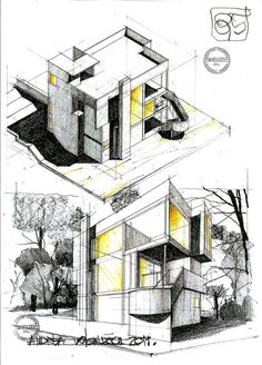 Let Us Try To Draw This House Design By Following The Step By Step