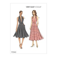 Fitted, unlined dress with length variations has back zipper and hook and eye, pleated bodice, circle skirt with stitched hem and pockets. Vintage Vogue Patterns, Vogue Sewing Patterns, Vintage Sewing, Evening Dress Patterns, Evening Dresses, Pleated Bodice, Miss Dress, Jacket Pattern, Winter Dresses
