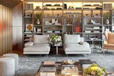 decoracao chaise e estante moderna