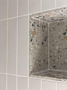 Family Bathroom, Small Bathroom, Master Bathroom, Modern Bathroom, Mandarin Stone, Terrazzo Tile, Tiling, Bathroom Renos, Beautiful Bathrooms