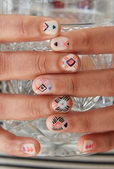 Colorful nails.
