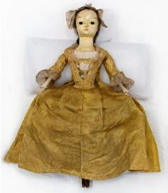 """Aunt Marianne (Mary Anne?)"", doll, England, 1740, after restauration."