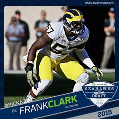 nfl WOMEN Seattle Seahawks Frank Clark Jerseys