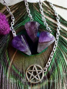 Amethyst Pendulums, Petite Pendulum, Divination, Divination Tool, Scrying, Pendulum, Crystal Divination, Crystal Pendulum
