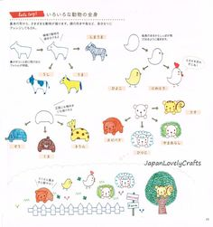 Illustration de stylo à bille Boll kawaii, dessin japonais Pattern Book, Doodle, dessin facile tutoriel, Motifs animaux, fille, fleur, insecte, B1205 par JapanLovelyCrafts