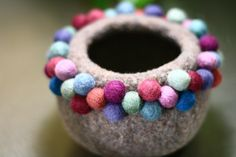 felted bowl...