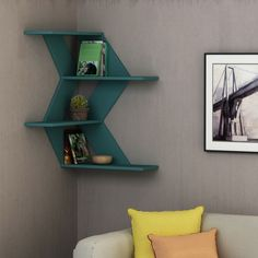 If you are confused which side to use, then use both sides. This corner shelf is out of common as well as being stunning in design and awsome in colours.