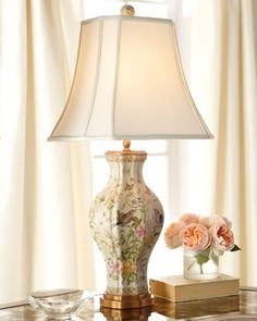 """""""Birds in Bliss"""" Table Lamp at Neiman Marcus."""