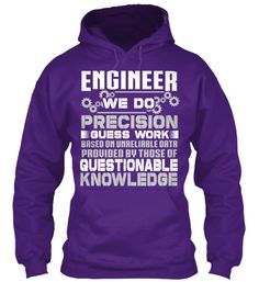 Precision Engineer hoodie - comes in several colors.  Limited Edition! | Teespring
