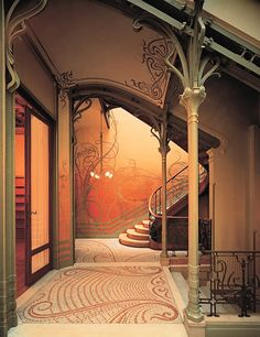 Art Nouveau Stairway, Tassel House, Brussels - 1892-93 - Designed by architect Victor Horta - @~Mlle
