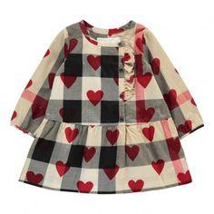 Burberry Checked Heart Mini Alaya Dress Beige