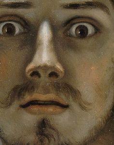 Gustave Courbet, self-portrait (the desperate man), c.1843–1845 (detail)
