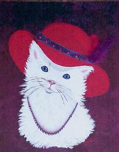 Red Hat Society Lady Painting
