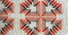 Belos!                                                                                                                                      ... Swedish Weaving Patterns, Needlepoint Patterns, All Craft, Embroidery Stitches, Diy And Crafts, Holiday Decor, Color, Weaving Patterns, Crochet Doll Dress