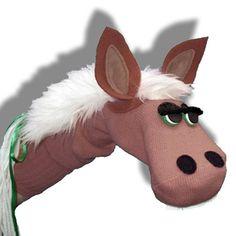 horse sock puppet | FARM sock puppets | Brown Horse Sock Puppet by ... | kid fun & kid cr ...