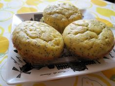 Until The Thin Lady Sings: Low Carb Gluten-Free Lemon Poppy Seed Muffins
