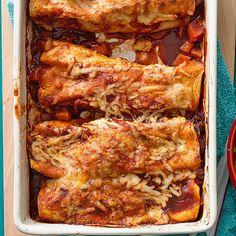 Sweet Potato Enchiladas... perfect for #MeatlessMonday!