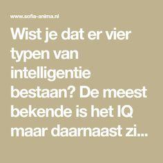 Wist je dat er vier typen van intelligentie bestaan? De meest bekende is het IQ maar daarnaast zijn er ook nog het FQ, EQ en SQ. Meer hierover en wat dit voor hoogsensitiviteit (HSP) betekent, lees je in dit artikel