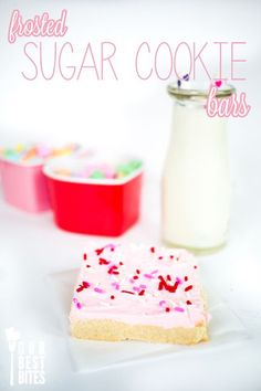 Super Easy Sugar Cookie Bars from Our Best Bites. A fantastically easy bar recipe that is the best of two glorious worlds: sugar and bar cookies. Your new family favorite!