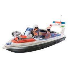 Playmobil Coastal Rescue Boat Playset | $17