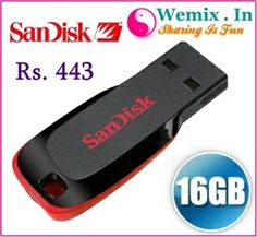 SanDisk Cruzer Blade 16GB Pen Drive Rs. 443