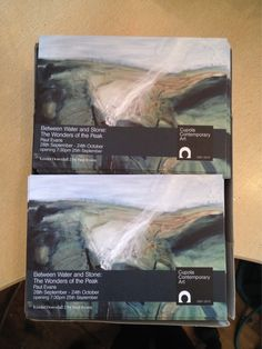 Paul Evans's invites for his solo show 'Between water and stone:The wonders of the Peak' have arrived :)