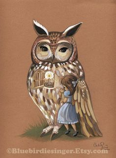 under his wing owl