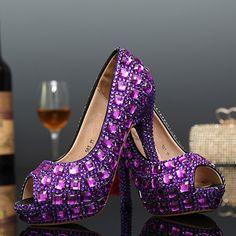 6 Purple Stuff, Purple Love, All Things Purple, Shades Of Purple, Deep Purple, High Heel Pumps, Women's Pumps, Purple Boots, Purple Outfits