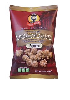 @Gaslamp Popcorn Cinnamon Carmel popcorn is made in small batches, using only all natural brown sugar, cinnamon, popcorn and just a pinch of sea salt
