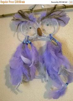 The Lavender Owl Dream Catcher