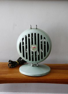 Vintage Victron Space Heater Aqua Turquoise Blue by FernHillRd, $50.00